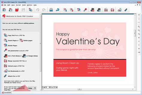 how to create printable valentine s day pdf coupon