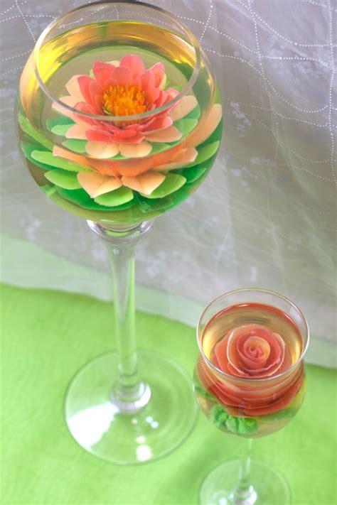 flower design jello 100 edible elegant gelatin flowers set inside transparent