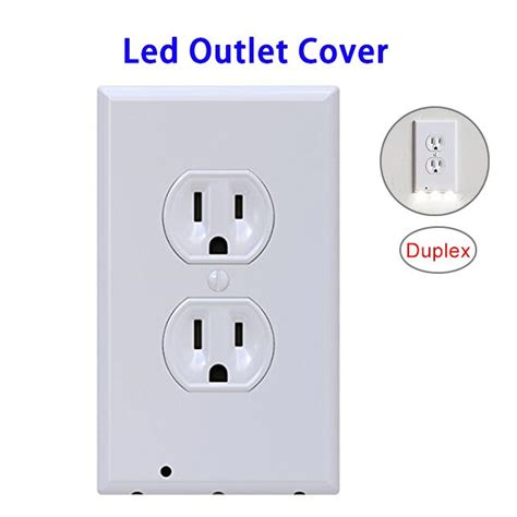 led night light outlet covers skusky 2 pack outlet cover led night light