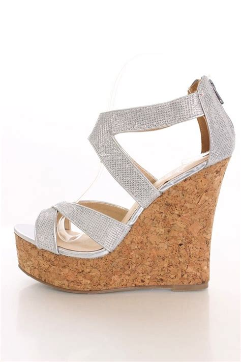 Sandal Wedges Wanita Silver Js 335 prom shoes silver wedges wedges be the to review this product style shoes wedges js