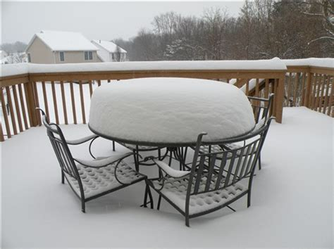 Snow Furniture by How To Protect Patio Furniture From Freeze Damage