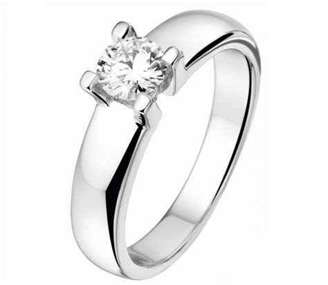 Ring Diamant by 14k Witgouden Ring Diamant 0 10crt Dumas Collection