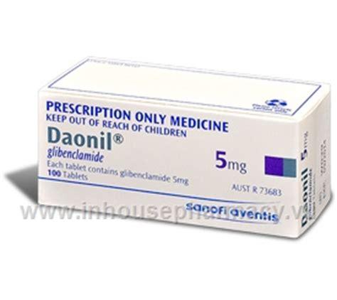 daonil 5mg glibenclamide 5mg 100 tablets pack