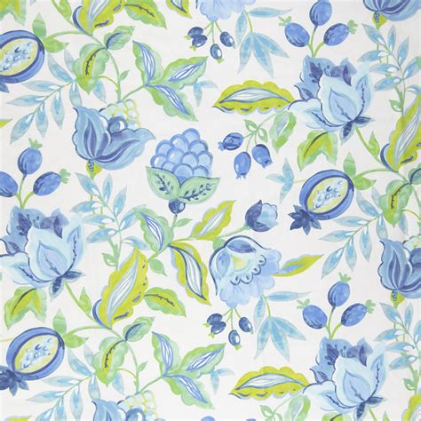 tropical print upholstery fabric aquarium blue tropical floral cotton print upholstery