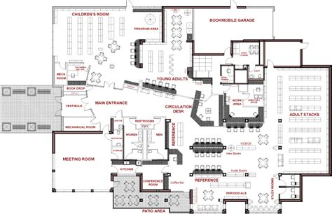 library floor plan school library floor plan design carrolllibrary floorplan home plans blueprints 93064