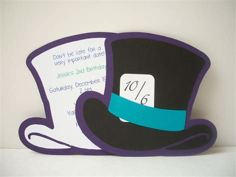 mad hatter hat printable template images