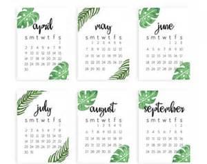 Small Desktop Monthly Calendar 5x7 Calendar Etsy