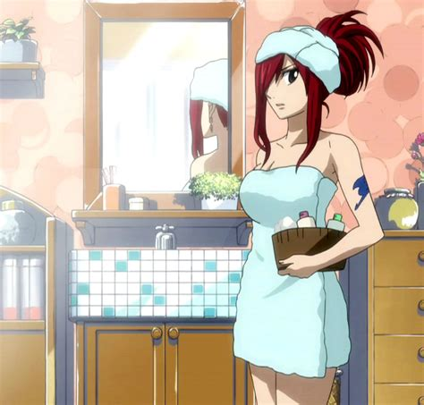 bathroom tail image erza in bathroom jpg fairy tail wiki the site for hiro mashima s manga and