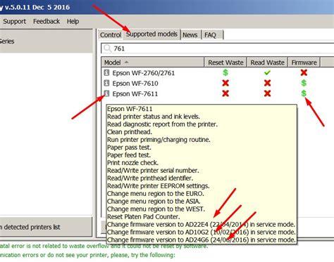 Wic Reset Downgrade | downgrade printers firmware in service mode and in regular