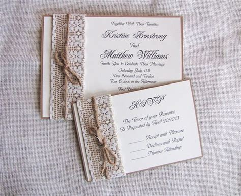 Rustic Handmade Wedding Invitations - handmade rustic wedding invitation ideas s
