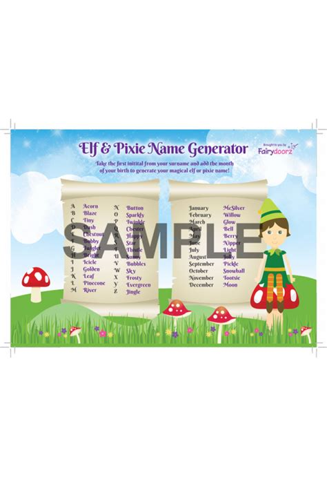 printable elf name generator free elf or pixie name generator for your fairydoorz