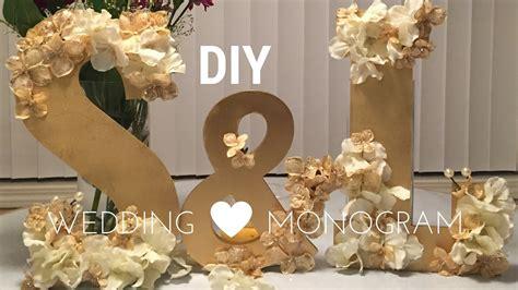 diy wedding decorations wooden monogram set tutorial