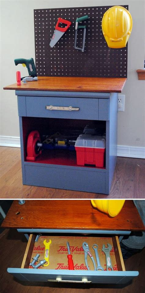 girls tool bench 15 diy furniture makeover ideas tutorials for kids hative