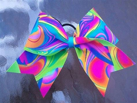 colorful bows colorful bow cheerleading