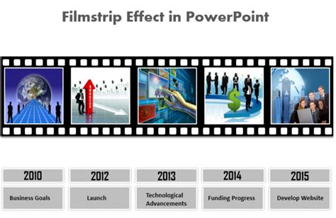 how to create a stunning filmstrip effect in powerpoint