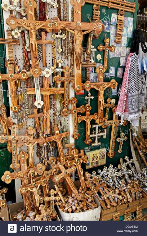 Souvenir Israel crucifixes as souvenirs in jerusalem yerushalayim israel