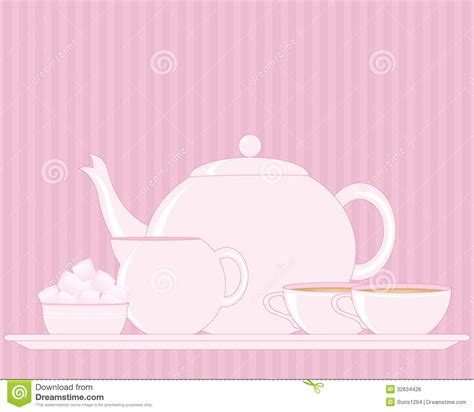 tray with teapot royalty free stock image image 32634426