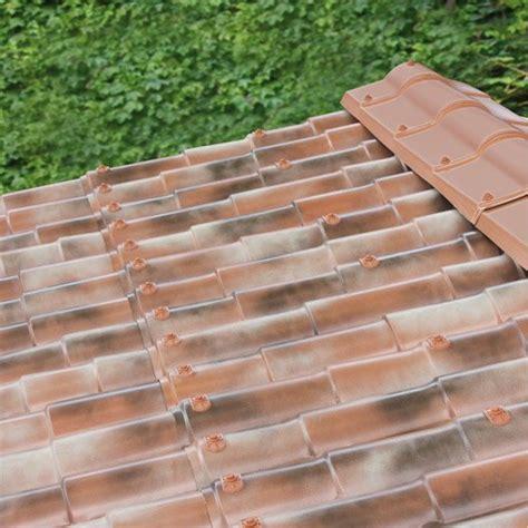 Plaque Pvc Imitation Tuile plaque imitation tuile toiture abri de jardin bac acier
