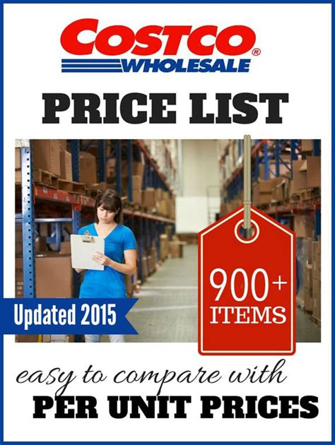 costco price costco price list updated with 900 per unit prices updated 2016