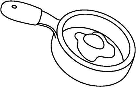 fry egg coloring page frying pan coloring coloring pages