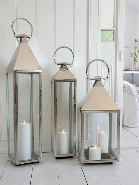 Large Floor Lanterns by Big Stainless Steel Lantern Xl The Floor
