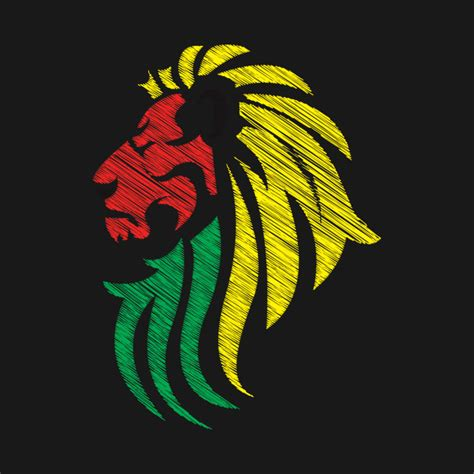 design logo reggae lion reggae colors cool flag reggae music dj reggae