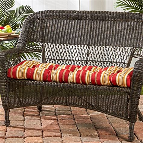 30 inch bench cushions indoor greendale home fashions 44 inch indoor outdoor swing bench