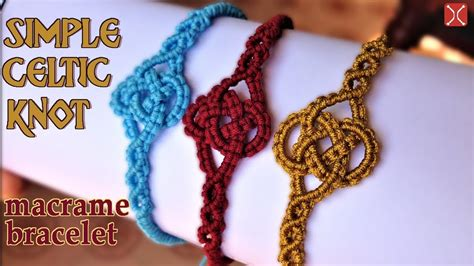 how to make celtic knot jewelry macrame simple celtic knot bracelet tutorial easy and