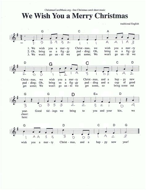 testo we wish you a merry we wish you a merry violin 1 sheet