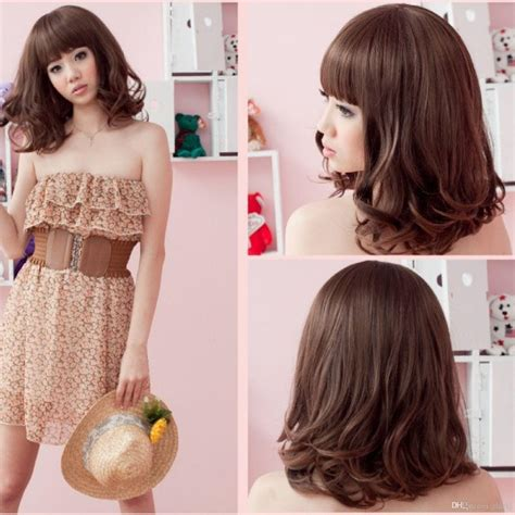 wigs for round shape face women s wig short tilted wigs for round face women women s full wig hair fluffy