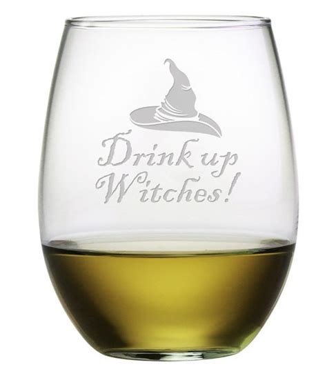 Drinks Up by Drink Up Witches Stemless Wine Glasses Set Of 4