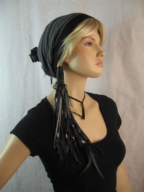 leather hair band ponytail wrap ponytail holder hair tie biker leather ponytail holder hair wrap extensions with skull