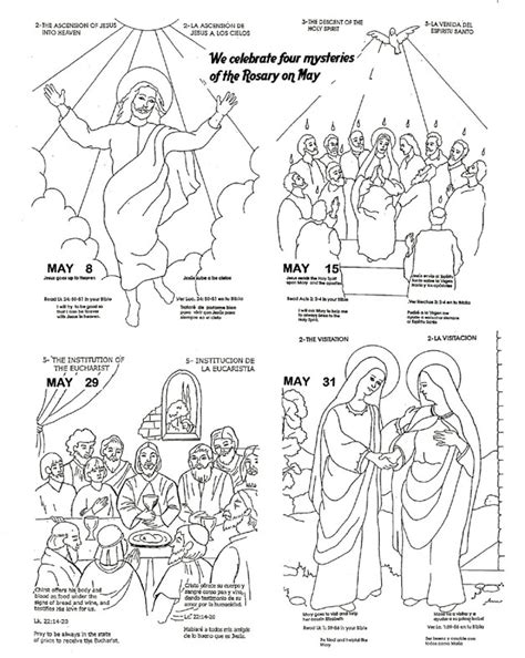 Mysteries Of The Rosary Coloring Pages free coloring pages of the rosary for children