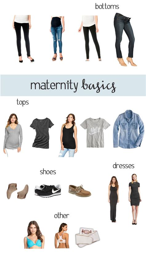 wardrobe essentials maternity basics in the