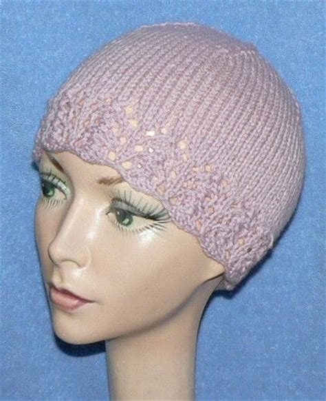 knit hats for chemo patients lace edged women s hat knit hats lace pinterest