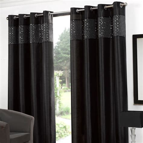 black eyelet curtains 66 x 90 buy glitz eyelet curtains 90 quot width x 90 quot drop black