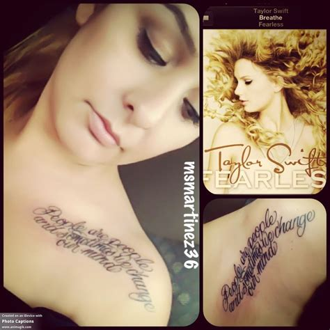 taylor tattoo my inspired taylorswift
