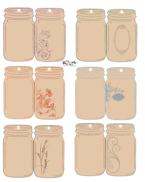 free printable gift jar labels folding jar tags jar free and free printable
