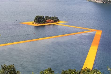 floating piers the floating piers christo s gift to lake iseo lifegate