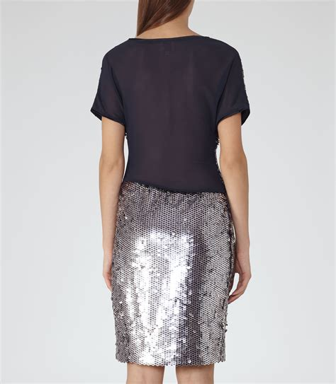 Dress Teresia 1 lyst reiss teresa sequin dress in metallic