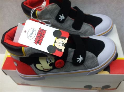toddler mickey mouse sneakers new toddler boys disney mickey mouse canvas shoes sz 11