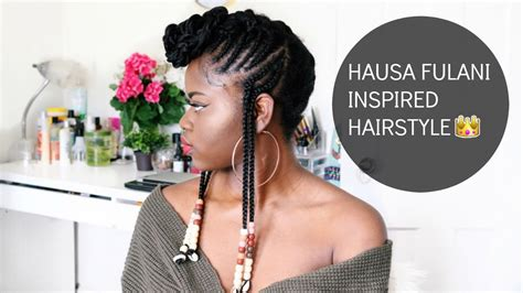 how to make fulani hairstyle hair tutorial hausa fulani inspired hairstyle with beads