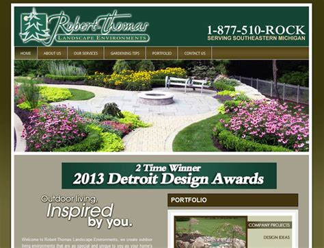 seo website design for landscaping company in auburn hills mi