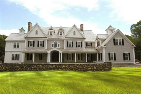 colonial mansion 5 125 million newly built stone shingle colonial