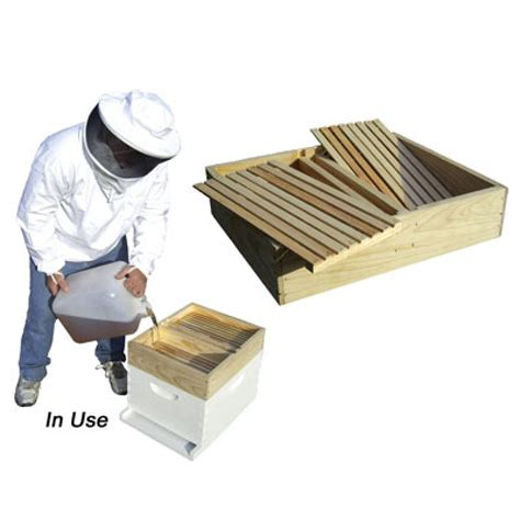 top bar beehive feeder wooden hive top feeder 10 frame m01454 at dadant dadant sons