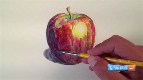watercolor tutorial apple expressive watercolor painting the underpainting youtube