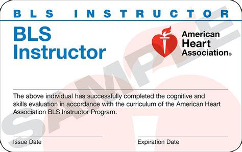 bls instructor card template american association powerpoint template gallery