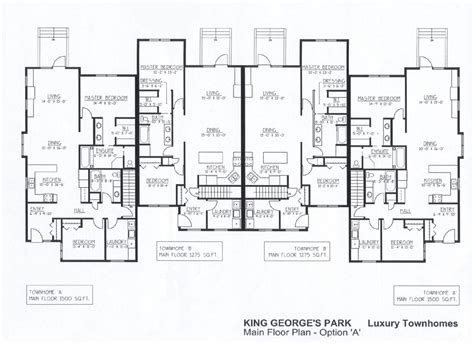 luxury townhouse plans luxury townhomes floor plans