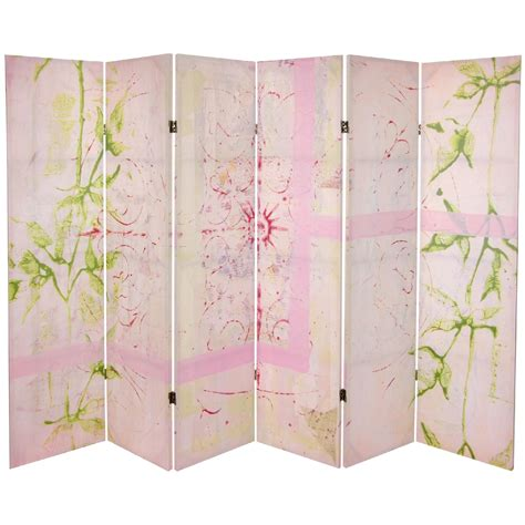 Canvas Room Divider Room Dividers 2014 Furniture 5 1 4 Ft Pink Harmony Canvas Room Divider