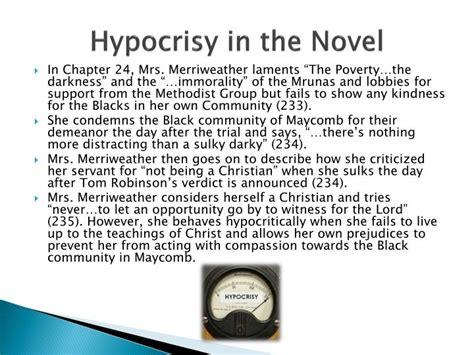 themes of hypocrisy in to kill a mockingbird ppt sle presentation mountain pointe english